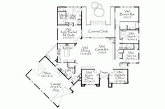 Home Plan HOMEPW18628 - 3996 Square Foot, 4 Bedroom 3 Bathroom Contemporary-Modern Homes Home with 4 Garage Bays | Homeplans.com