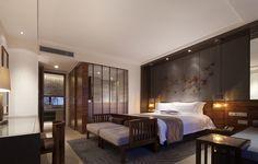 广西古象温泉度假酒店,客房. Image © shenzhen Rongor Design & Consultant Co., Ltd
