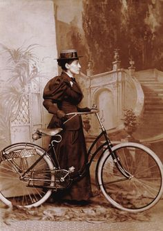 Annie Cohen Kopchovsky, a Jewish mother, rode her bicycle around the world in the late 1800s. She rode from Chicago to NY, Paris, Egypt, Jerusalem, Yemen, Colombo, Singapore, and more.