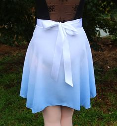 Blue Dip Dyed Ballet Wrap Skirt