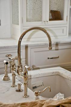 Perrin and Rowe bridge faucet (polished nickel)...LOVE!!!