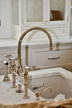 Perrin and Rowe bridge faucet (polished nickel)