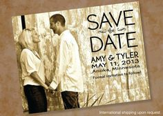 Wedding Photo Picture Save The Date by DesignsByDirection on Etsy, $0.65