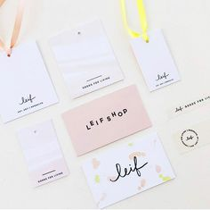 Love the soft hues, lettering and playfulness. Hang Tags, Business Cards, Branding, Lettering, Feelings, Instagram, Logo, Lipsense Business Cards, Calligraphy