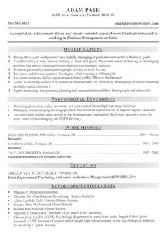 Job Resume Sample For College Students College Resume Example: Free Sample  College Resumes  High School Student Resume With No Work Experience