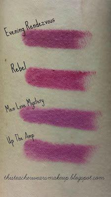 Swatches: MAC Magic of the Night Lipsticks