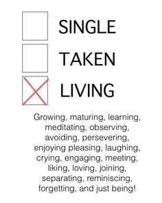 single taken living