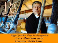 Julio Balmaceda is Tango and he's here in London only at Raquel Greenberg Tango Academy. Tango perfection http://www.raquel-tango.com/news/julio-balmaceda/ #tango #dance #london #art