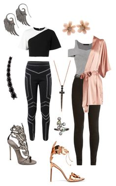 Funky Casual #26 by alicepardus on Polyvore featuring polyvore, fashion, style, David Koma, Alexander Wang, Love Moschino, Fleur of England, Ryan Roche, Giuseppe Zanotti, Francesco Russo, Bee Goddess, Noor Fares, Van Cleef & Arpels, Alinka and clothing