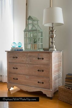 Whitewashing furniture is a great way to revive an old piece of wooden furniture while keeping the wood grain visible. That's exactly what I had in mind when I acquired this antique pine dres…