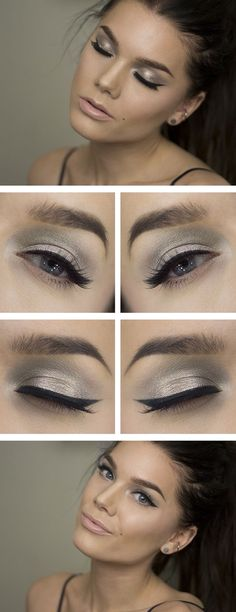 Grey shimmer cat eye