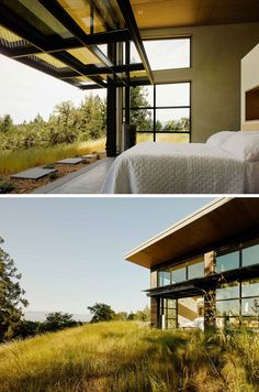This home, located in Healdsburg, California, USA, was designed by Feldman Architecture. Located in a rural area, and at the top of a hill from where we can enjoy the wonderful views over the valley, it was designed with a focus on the enjoyment and relaxation of those who live in it. The property has a swimming pool surrounded by a large terrace, itself equipped with outdoor furniture, and from where..