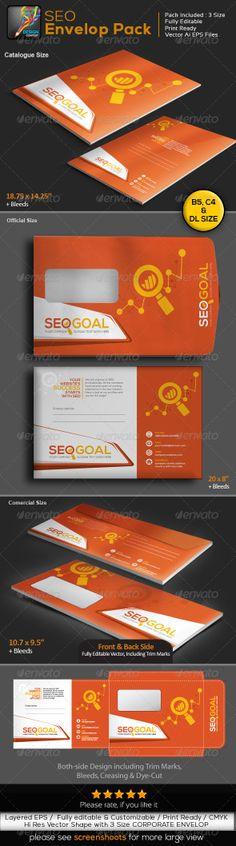 Graphic - Logo Templates - ePublishing - Web Elements - Vectors: SEO Goal : Search Engine Optimization Envelope Pac...