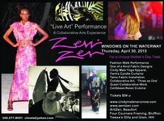 "New ""live art performance"" on Hilton Head Island, April 30, 2015.  Get tickets at www.zemizen.com"