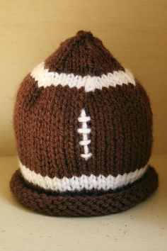 football style knit baby hat