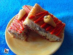 Blondie + carrot cake on foodblog www.mycakeisluka.com