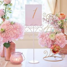Ornamental Wire Stationery Holders Tall - White