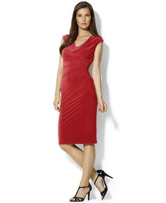 RALPH LAUREN  Robe Cocktail en Rouge.Taille 42. REF 3435/42.