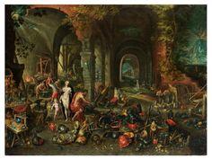 Jan Brueghel d.J., - 1601 Antwerpen - 1678 ebenda, Nachfolge - VENUS UND ARMOR IN [...], Beaux-Arts à Hampel Fine Art Auctions | Auction.fr
