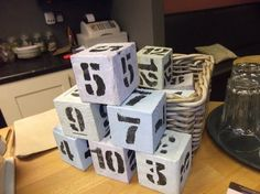 Diy Wedding Crafts Wood Block Table Numbers Httpwww - Restaurant table numbering system