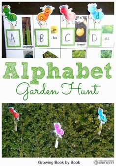 Alphabet Garden Hunt - The Educators' Spin On It. Incorporate reading activities into your gardening.