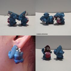 Gible Bite Earrings by Chibisilverwings on Etsy