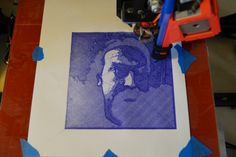 3D to 2D: Using a 3D Printer to Draw in 2D