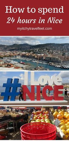 How to Spend 24 Hours in Nice, France. Great advice for a pre or post stay on a Mediterranean cruise. #boomertrravel #Nice #france #TravelTips