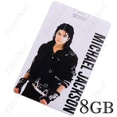 USB 2.0 Драйв Флеш 8ГБ Память Stick U Диск в стиле кредитной карты -  Michael Jackson CUD-12225