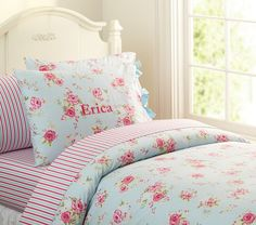 Savannah Floral Duvet Cover- potterybarn kids