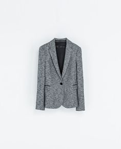 Image 7 of BLAZER WITH IMITATION LEATHER PIPING from Zara