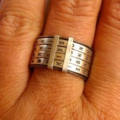 Ring with letters that spell out words