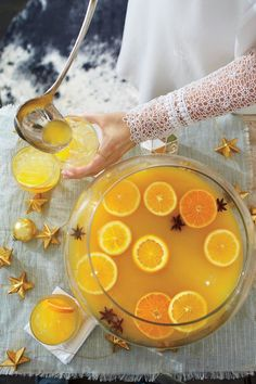 Our Best Recipes For Celebrating Christmas In The South: Spiced Orange-Bourbon Punch