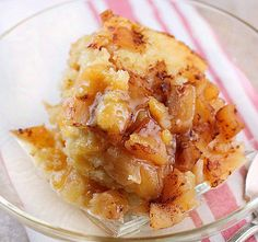 A delicious Apple Pudding Cake made in the crock pot. Warm apples ,cinnamon and a slight orange flavor make this Crock Pot Apple Pudding Cake delicious!