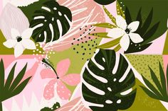 Find Collage Contemporary Floral Seamless Pattern Modern stock images in HD and millions of other royalty-free stock photos, illustrations and vectors in the Shutterstock collection. Motif Floral, Floral Wall, Illustrator Tutorials, Adobe Illustrator, Hawaiian Pattern, Wallpaper Pc, Vintage Typography, Vintage Logos, Retro Logos