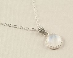 Rainbow moonstone necklace silver moonstone by BellesBijouxDesigns, $72.00