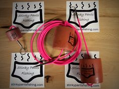 Hot pink stringer, key chain, and boga float
