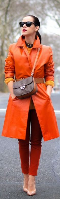 Street style: Tangerine Crush by Bittersweet Colours