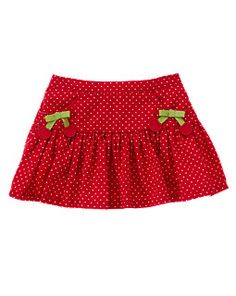 Cherry Bow Dot Skirt