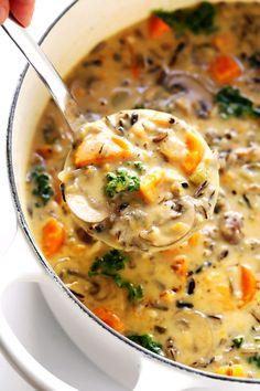 Soupe d'automne au riz sauvage , #automne #sauvage #soupe