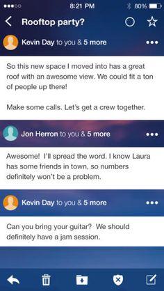 Yahoo! Mail (iPhone): Thread, Gen 2 (2013)