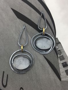 Agate Druzzy Orbit Earrings