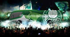 Ônibus do Palmeiras é remodelado e terá os dois mascotes do clube