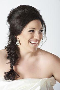 soft loose braid + wedding hair