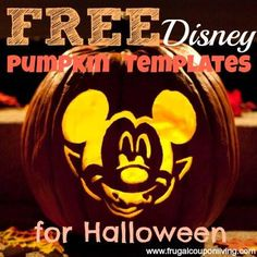 Looking for Pumpkin Templates? These Disney Pumpkin Tempates are FREE and offer great carving tips and printables to get your perfect Halloween Disney Character!