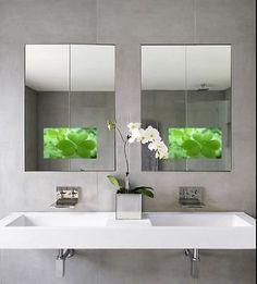 Magic Waterproof LCD Bathroom -Vanity Mirror with 15.6 Hidden TV/AV/VGA/HDMI/USB