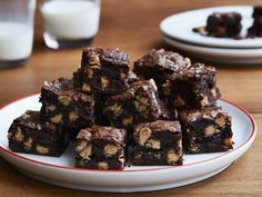 Peanut Butter Espresso Brownies recipe from Giada De Laurentiis via Food Network