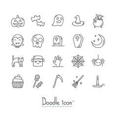 Halloween Symbols, Halloween Icons, Halloween Drawings, Bullet Journal Font, Bullet Journal Ideas Pages, Bullet Journal Inspiration, Feliz Halloween, Halloween Doodle, Mini Drawings
