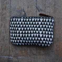 hand-drawn triangle pouch from bookhou