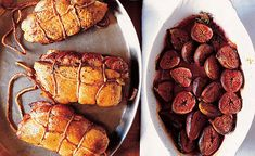 Double Duck Breasts with Baked Figs #recipe by David Tanis at dartagnan.com